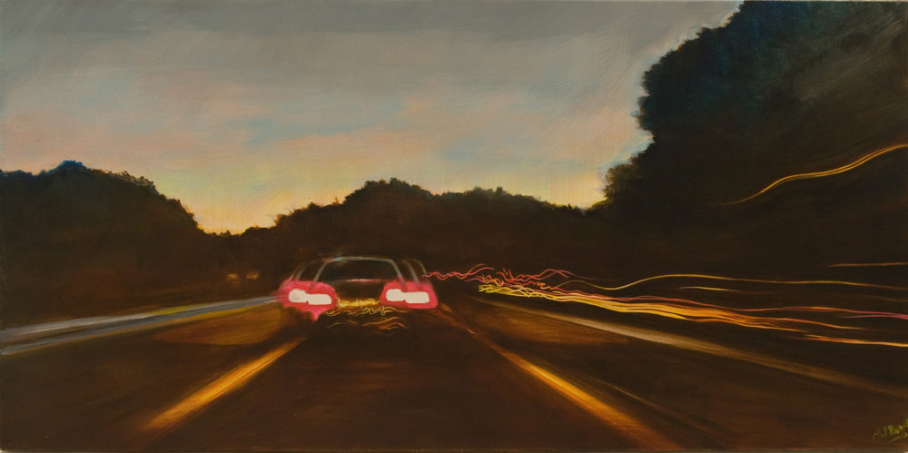 Driving through the night  (Sold)