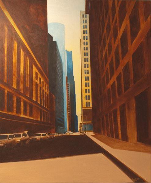 Downtown, acrylic on canvas 30″x 24″