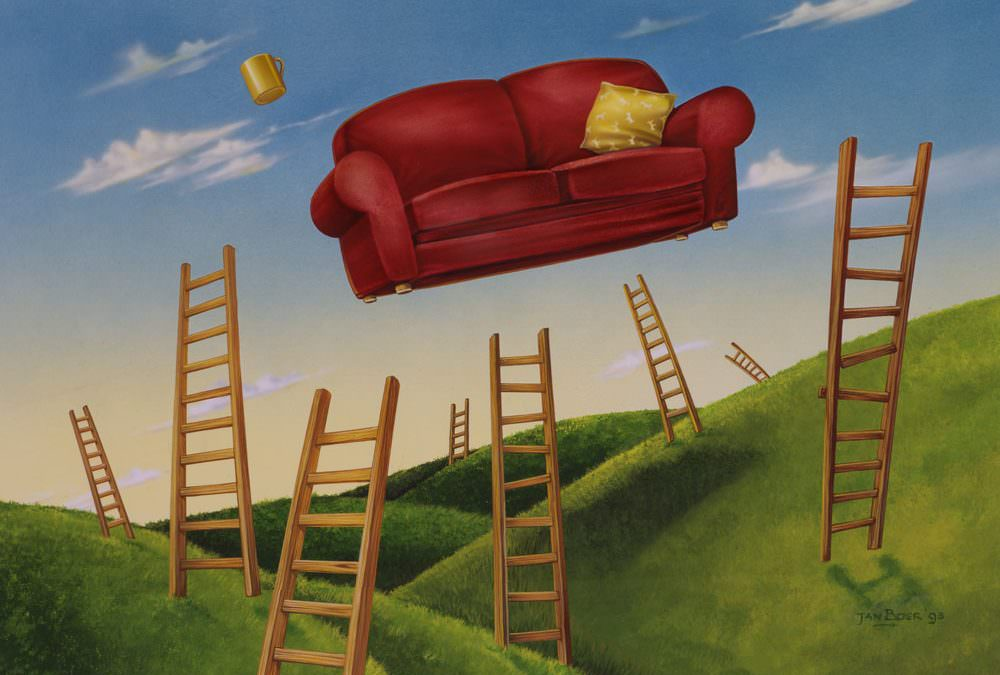 Flying Red Couch