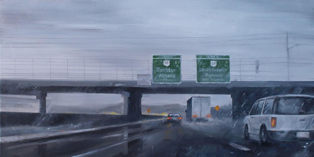 Highway in the Rain