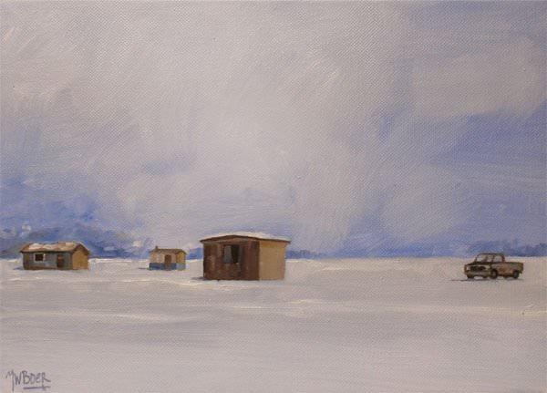 Ice houses with pick-up