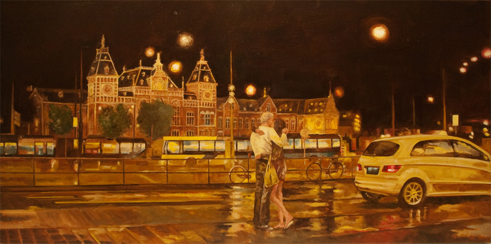 Kissing in front of Central Station    (Sold)