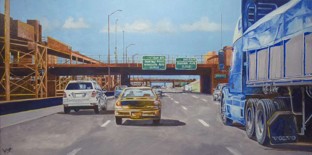 Chicago Highway oil on canvas