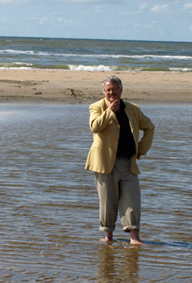 JW Boer on the beach